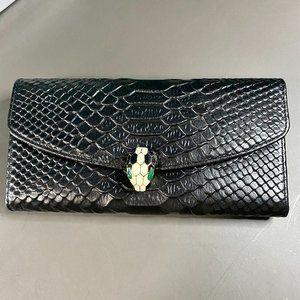🎹B-u-l-g-a-r-i🎹 Classic Long Black Flip Wallet